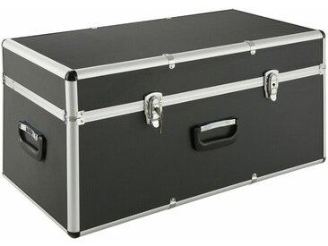 AREBOS Coffre en aluminium Coffre de transport Caisse de rangement 100 L - noir