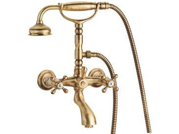 Mélangeur baignoire avec complet douche Porta & Bini old fashion 6001.cer | chromè-or