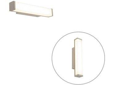 Applique de salle de bain acier 32 cm avec LED IP44 - Cascada Qazqa Moderne IP44