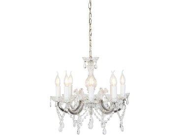 Lustre vintage chrome C-bras 8 lumières - Marie Theresa Classique/Antique Luminaire interieur Rond - Qazqa