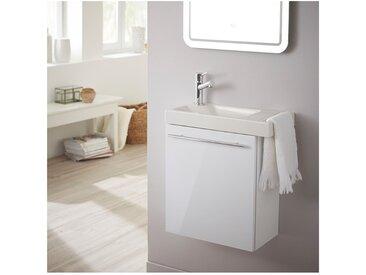 Pack lave mains blanc + Lave Mains en céramique + mitigeur