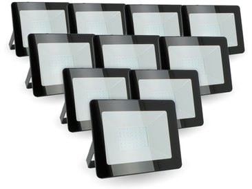 Lot de 10 projecteurs 30W IP65 extérieur | Température de Couleur: Blanc chaud 3000K