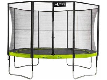 Kangui - Trampoline de jardin 365 cm + filet de sécurité PUNCHI Vert 360 - Vert
