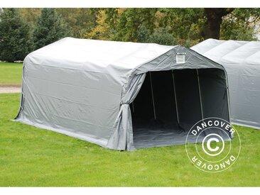 Tente Abri Voiture Garage PRO 3,6x6x2,68m PVC, avec couverture de sol, Gris