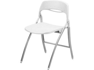 Chaise pliante - avec structure chromée - blanc