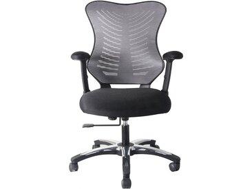 Chaise pivotante de bureau Ultra - design, dossier maille filets, gris