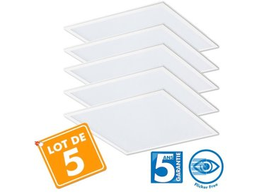 Lot de 5 Dalles LED Pro 40W - 5ans 60x60cm | Blanc neutre 4000K