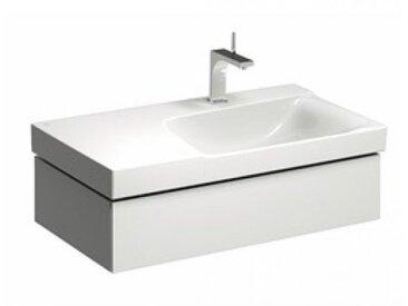 Geberit Geberit Xeno 2 Waschtischunterschrank mit Siphonausschnitt rechts 500.514., 880x220x462mm, 1 Schublade, Coloris: Laque brillante blanche - 500.514.01.1
