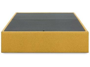 Sommier coffre Matter 90 x 190 cm moutarde