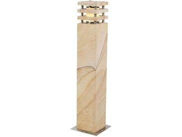 Lampadaire d'extérieur Moderne beige 70 cm - Grumpy Qazqa Moderne Luminaire exterieur Pierre / Beton