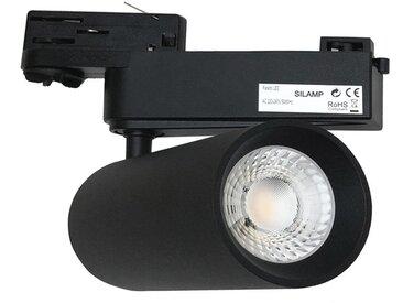 Spot LED sur Rail 40W 80° COB Triphasé NOIR - Blanc Froid 6000K - 8000K