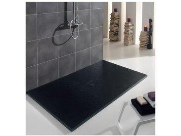 Receveur extra plat centré | Noir - 160 x 80 cm