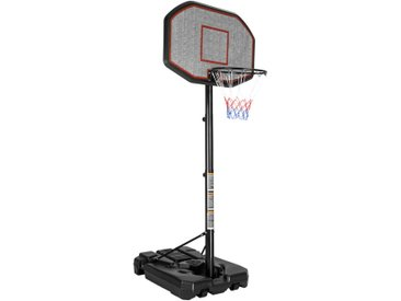 Panier de Basket réglable en hauteur sur Pied avec Roulettes 108 cm x 125 cm x 360 cm Noir