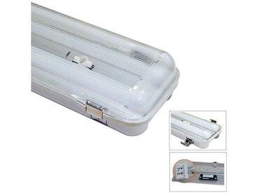 Boitier étanche IP65 LED intégrées 24W (210W) Blanc jour 4000°K Translucide