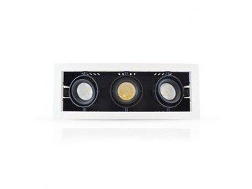 SPOT CARDAN LED 3x10W (3x90W) Orientable Blanc chaud 3000°K 325x125