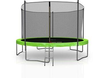 Trampoline extérieur 12FT 5 Perches 366cm Classique Vert Pomme - Jump4fun