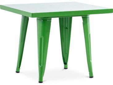 Table pour enfant de style Tolix - 60 cm - Métal Vert