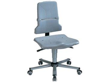 Chaise d'atelier pivotante Sintec A roulettes polypropylène gris 430-580 mm
