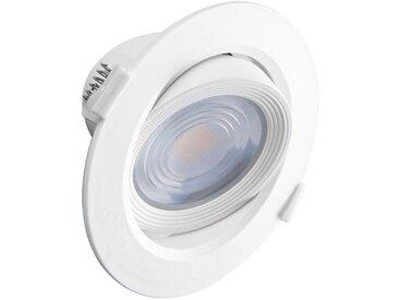 Spot plafond encastrable orientable LED 10W (90W) Blanc chaud 3000°K Angle 38°