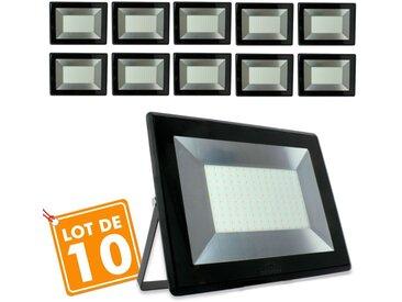 Lot de 10 Projecteurs 100w Forte luminosité 8500 Lumens de IP65   Température de Couleur: Blanc froid 6500K