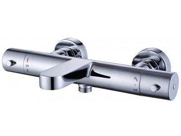 Mitigeur thermostatique bain/douche 4051 - barre de douche / flexible / douchette à main en option: Avec flexible standard, Sans barre, Avec douchette HB13R