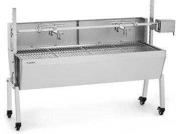 Sauenland Pro Barbecue broche pour cochon de lait 15W 4 roulettes inox - Klarstein