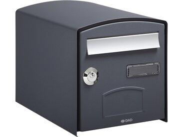 Boîte aux lettres simple face DOME - Gris 7016