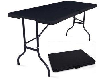 5 Tables pliantes de camping 180cm 8 places noire - 180cm x 74cm x 75cm