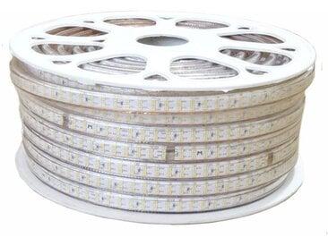 Ruban LED 220V Recoupable 50M Double Rangée IP65 2835 180LED/m - Blanc Neutre 4000K - 5500K