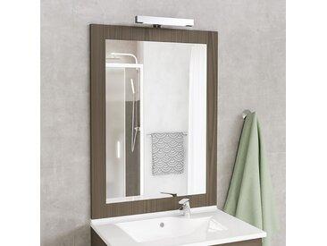 Miroir MIRALT décor vienna avec applique LED - 70x109 cm
