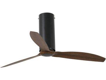 Ventilateur avec telecommande Noir Bois cm 45X128X128 FARO 32037