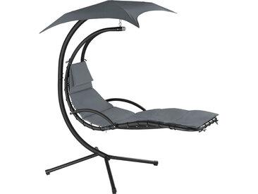 Transat suspendu KASIA - fauteuil relax, fauteuil suspendu, chaise suspendue - gris