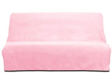 Housse de clic clac Panama rose 100% coton
