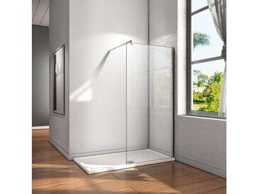 Paroi de douche 120x200cm en verre anticalcaire Walk in paroi de fixation avec barre de fixation extensible