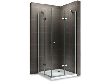 MAYA Cabine de douche H 180 cm en verre transparent 75x100 cm
