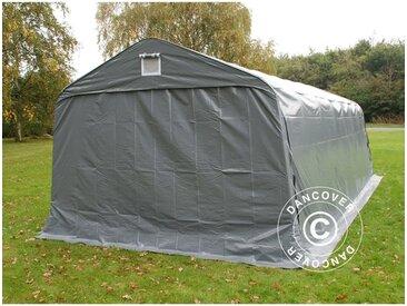 Tente Abri Voiture Garage PRO 3,6x7,2x2,68m PVC, Gris