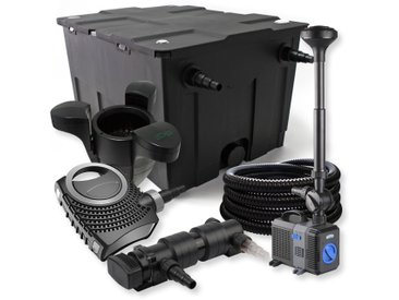 SunSun Kit de filtration de bassin 60000l 18W UVC Stérilisateur NEO8000 Pompe Tuyau Fontaine Skimmer