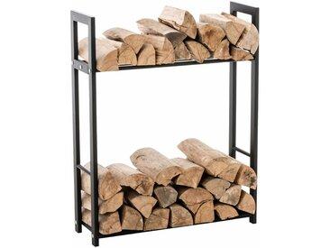 Porte bûches pour bois de cheminée Snow noir 25x80x100 cm