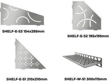 Tablette murale SHELF - TABLETTE CURVE D'ANGLE SHELF-E-S3 ACIER INOX BROSSE 154x295mm