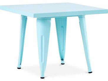 Table pour enfant de style Tolix - 60 cm - Métal Aquamarine