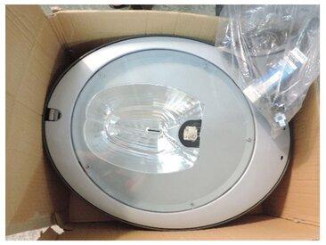 Lanterne grise avec lampe 250W blanc chaud 3000K CDM-T G12 ballast ferro pour mat Ø 60 à 76mm master city CGP431 PHILIPS 505511