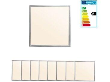 ECD Germany 8 x Panneau LED 36W - 60 x 60 cm - Ultra mince - SMD 3014 - Blanc chaud 3000K - 220-240 V - Environ 3020 lumens - Plafonnier encastré