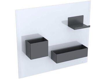 Keramag Tableau magnétique Acanto 500649, 499x388x75mm, Coloris: Noir Lavash Mat - 500.649.JK.2