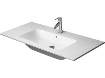 Duravit ME by Starck Meuble lave-mains, 1 trou pour robinet, trop-plein, avec table à trous, 1030 mm, Coloris: Blanc avec Wondergliss - 23361000001
