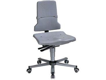 Chaise d'atelier pivotante Sintec C roulettes polypropylène gris 430-580 mm