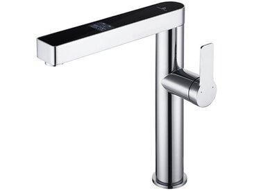 Robinet de Cuisine Affichage numérique intelligent écran LCD rotatif Mitigeur pour Evier chromé robinet de lavabo