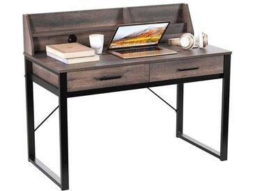 Table Informatique Bureau Informatique avec de Nombreux Rangements Table d'Ordinateur Style Industriel pour Bureau, Salon 106 x 53 x 96 cm - Intey