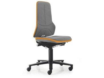 Siège d'atelier NEON, assise en Supertec, gris/orange