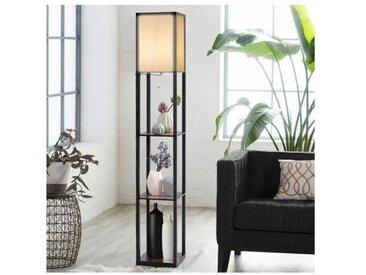 Lampadaire avec 3 Etagères de Stockage 1,6M Design Scandinave Lampe sur Pied pour Chambre et Salon (Ampoule non inclus) 220-240V,60W - Costway