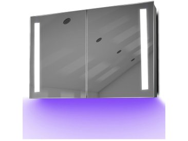 Armoire De Toilette Anti-Buée Avec Capteur Et Prise Rasoir Intérieure K372U - Couleur LED : Violet
